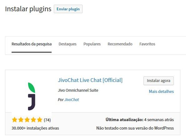 jivochat plugin wordpress